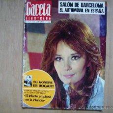 Coches: GACETA ILUSTRADA SALON DEL AUTOMOVIL DE BARCELONA-TOROS DE LA FERIA DE SEVILLA-LEA MASSARI.. Lote 39190131