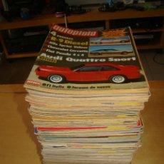 Coches: LOTE DE 54 REVISTAS DE COCHES, AUTOPISTA - AÑOS 80. Lote 39390116