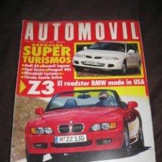 Coches: REVISTA AUTOMOVIL Nº 215 BMW Z 3 COCHES CLASICOS FORMULA 1 RALLYE AUDI A4. Lote 39472723