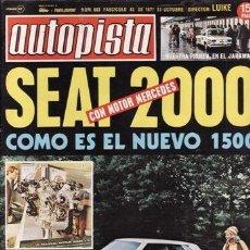REVISTA AUTOPISTA Nº 663 AÑO 1971. CONTACTO: SEAT 1500.