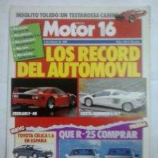 Coches: MOTOR 16-N276-FEBRERO 1989. Lote 39509449