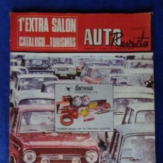 Coches: AUTO REVISTA N 777 ABRIL 72 1º EXTRA SALON CATALOGO TURISMOS 165 PAGINAS. Lote 39571722