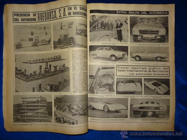 Coches: AUTO REVISTA 726 SEAT 124 1 MAYO 1971 EXTRA SALON INTERNACIONAL DEL AUTOMOVIL - Foto 2 - 39639854