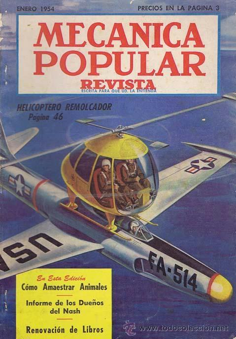MECANICA POPULAR. ENERO 1954. 1954. REVISTA. NORMAL (Coches y Motocicletas Antiguas y Clásicas - Revistas de Coches)