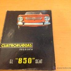 Coches: CUATRORUEDAS SEAT 850 ABRIL 1966. Lote 39821719