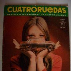 Coches: REVISTA CUATRORUEDAS Nº2 AÑO 1969 TORINO 380W ALFA ROMEO RALLYE MONTECARLO ABARTH. Lote 40003326