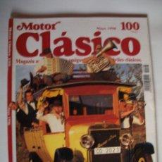 Carros: REVISTA MOTOR CLASICONº100 AÑO1996 HISPANO-SUIZA ALFA ROMEO RL HARLEY-DAVIDSON F. Lote 40004805