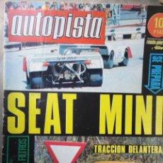 Coches: REVISTA AUTOPISTA EXTRA AUTOMOVIL NUMERO 539 7 JUNIO 1969. Lote 40353126