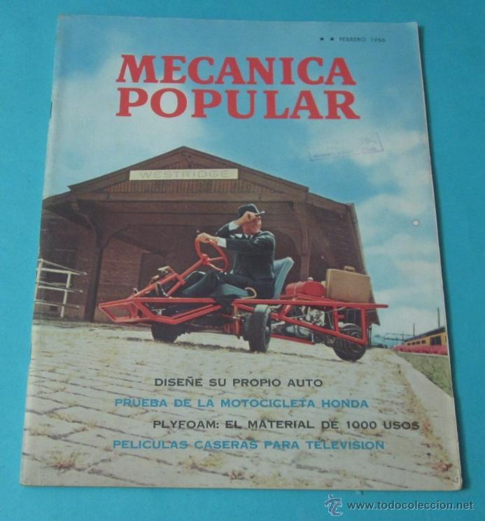 MECÁNICA POPULAR. FEBRERO 1966 (Coches y Motocicletas Antiguas y Clásicas - Revistas de Coches)