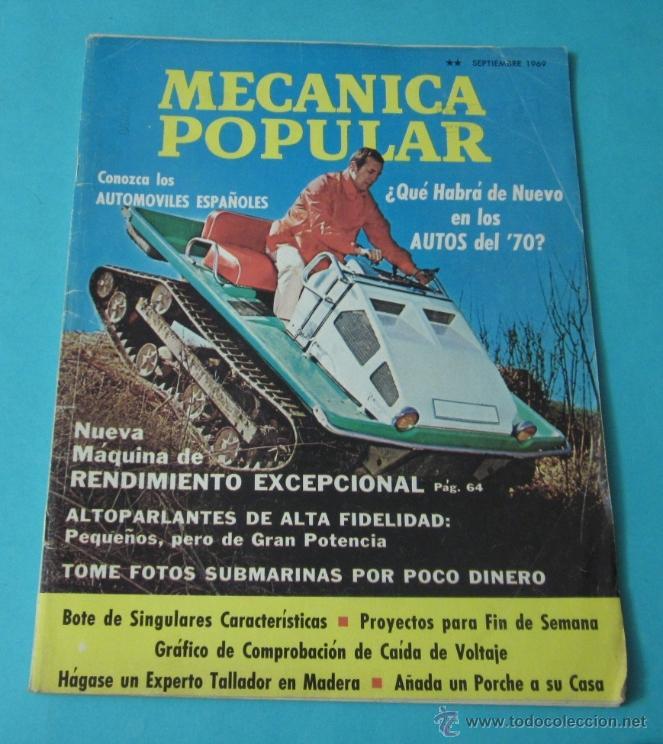 MECÁNICA POPULAR. SEPTIEMBRE 1969 (Coches y Motocicletas Antiguas y Clásicas - Revistas de Coches)