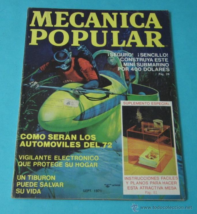 MECÁNICA POPULAR. SEPTIEMBRE 1971 (Coches y Motocicletas Antiguas y Clásicas - Revistas de Coches)