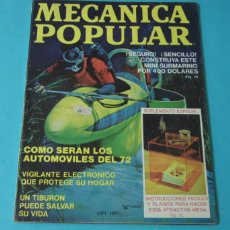 Coches: MECÁNICA POPULAR. SEPTIEMBRE 1971. Lote 40677661