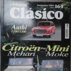 Coches: REVISTA MOTOR CLASICO NUMERO 164 SEPTIEMBRE 2001. Lote 143117020