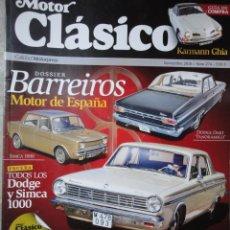 Coches: REVISTA MOTOR CLASICO NUMERO 274 NOVIEMBRE 2010 BARREIROS. Lote 40701046