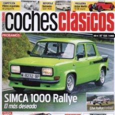 Coches: COCHES CLASICOS N. 104 - EN PORTADA: SIMCA 1000 RALLY (NUEVA). Lote 126129723