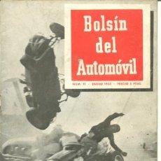 Coches: BOLSIN DEL AUTOMOVIL REVISTA TECNICO DEPORTIVA - NUMERO 11 - ENERO 1953. Lote 40986438