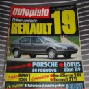 Coches: REVISTA AUTOPISTA Nº 1513 RENAULT 19 FORD SIERRA BMW 520 COCHES AUTOMOVIL RALLY FORMULA 1 . Lote 41027777
