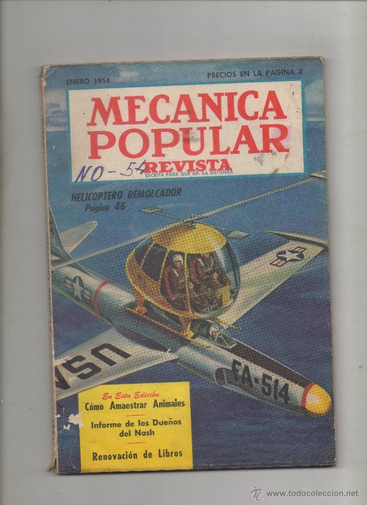 REVISTA MECANICA POPULAR, ENERO 1954.SA (Coches y Motocicletas Antiguas y Clásicas - Revistas de Coches)