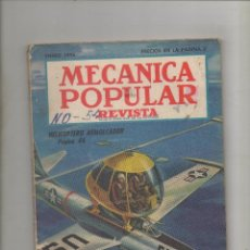 Coches: REVISTA MECANICA POPULAR, ENERO 1954.SA. Lote 41064657