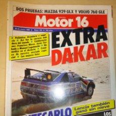 Coches: REVISTA AUTOMOVIL MOTOR 16 NUMERO 223 30 ENERO 1988 EXTRA DAKAR. Lote 41096953