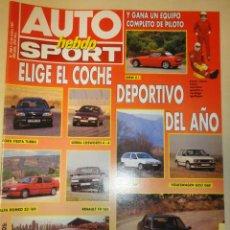 Coches: REVISTA AUTO HEBDO SPORT NUMERO 298 12 ENERO 1991. Lote 41099555