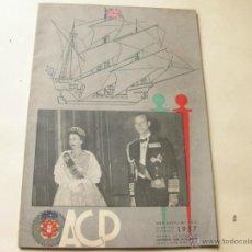 Coches: REVISTA PORTUGUESA DE AUTOMOVILES ACP - ENERO FEBRERO DE 1957. Lote 41447344