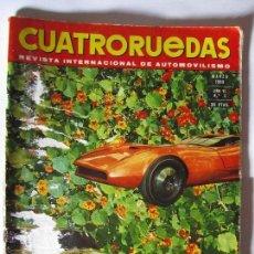 Coches: REVISTA CUATRORUEDAS Nº3 AÑO 1969 OPEL PININFARINA ABARTH ROLLS ROYCE RALLYE COSTA BRAVA 1969. Lote 40051301