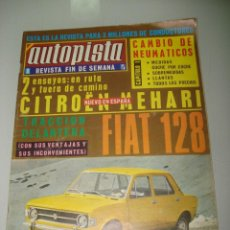 Coches: ANTIGUO AUTOPISTA Nº 555 DEL AÑO 1969 CON EL FIAT 128. Lote 41516780