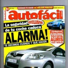 Coches: AUTOFACIL Nº 77 ** MARZO 2007. Lote 41568496