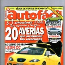 Coches: AUTOFACIL Nº 70 ** AGOSTO 2006. Lote 41568520