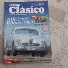 Voitures: MOTOR CLASICO Nº 110, ALFA ROMEO 1900, HISPANO -SUIZA 16 HP SPORT RABASSADA, PUCH 350 GS. Lote 41882315