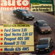 Coches: REVISTA AUTOMECANICA - 236 FORD SIERRA 2.0 OPEL VECTRA PEUGEOT 405 - CITROEN BX 4X4 FORD FIESTA XR2I. Lote 41999111