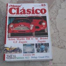 Carros: MOTOR CLASICO Nº 25, CITROEN DS, VESPA N, GT ZAGATO, ASTON MARTIN DB 4 /AC BRISTOL, SALMSON AL3. Lote 163321626