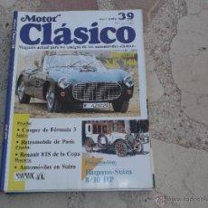 Coches: MOTOR CLASICO Nº 39, JAGUAR XK 140, RENAULT 8 TS , HISPANO SUIZA 8/10 HP, SUNBEAM 500. Lote 42133521