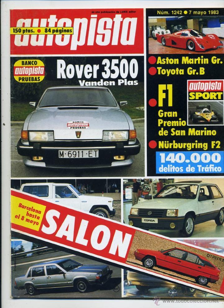 AUTOPISTA Nº 1242 ROVER 3500 VANDEN PLAS (Coches y Motocicletas Antiguas y Clásicas - Revistas de Coches)