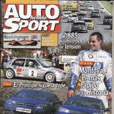 Coches: REVISTA AUTO HEBDO SPORT Nº 889 AÑO 2002. PRU: VW NEW BEETLE CONVERTIBLE. COMP: FORD MONDEO ST 220. Lote 171459428