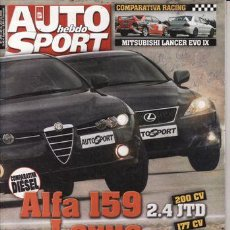 Coches: REVISTA AUTO HEBDO SPORT Nº 1074 AÑO 2006. PRU: MITSUBISHI L200. VW GOLF GT 1.4 TSI. COMP: ALFA 2.4. Lote 42717169