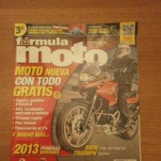 Voitures: REVISTA FORMULA MOTO - Nº 92- AGOSTO 2012-. Lote 42810127