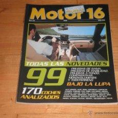 Coches: REVISTA MOTOR 16. Nº64 AÑO 1999. CATALOGO DE PRUEBAS. Lote 42891664
