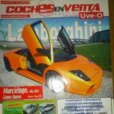 Coches: COCHES EN VENTA TODO MOTOR LAMBOR..MURCIALOGO MINI COCHES UVE-O Nº177. Lote 42953905