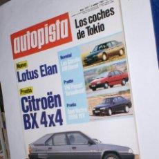 Coches: REVISTA AUTOPISTA Nº 1577 DE 5 DE OCTUBRE DE 1989 LOTUS ELAN, ETC.. Lote 42956388