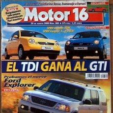 Coches: MOTOR 16 Nº 880 AGO 2000 VW LUPO,FORD EXPLORER,PININFARINA ROSSA, MOTOR16 . Lote 43033490