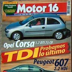 Coches: MOTOR 16 Nº 880 AGO 2000 VW LUPO,FORD EXPLORER,PININFARINA ROSSA, MOTOR16 . Lote 43033514
