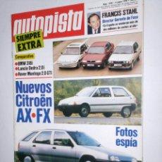 Coches: REVISTA AUTOPISTA Nº 1590 DE 4 DE ENERO DE 1990,BMW 318 I,LANCIA DEDRA 2.0I,ROVER MONTEGO,AX-FX,ETC.. Lote 43200303