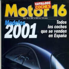 Coches: MOTOR 16 Nº72, CATÁLOGO COCHES 2001. Lote 43255999