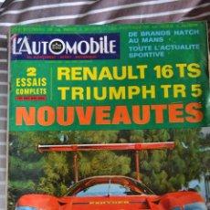 Coches: REVISTA L´AUTOMOBILE Nº 265 RENAULT 16 TRIUMPH TR 5 COCHES AUTOMOVIL RALLYE FORMULA 1. Lote 43518728