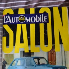Coches: REVISTA L´AUTOMOBILE Nº 269 SALON DE PARIS COCHES AUTOMOVIL RALLYE FORMULA 1. Lote 43519020