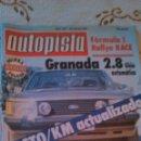 Coches: AUTOPISTA 1142 MARZO 1981. FORMULA 1 RALLYE RACE. NUEVA ESTÉTICA VISA CITROEN ESPAÑOL.. Lote 44181308