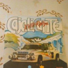 Coches: REVISTA XVIII RALLYE CAJALICANTE JULIO 1983. Lote 44181353