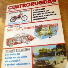 Coches: CUATRORUEDAS AÑO XII Nº 140 AGOSTO 1975 . Lote 44428831